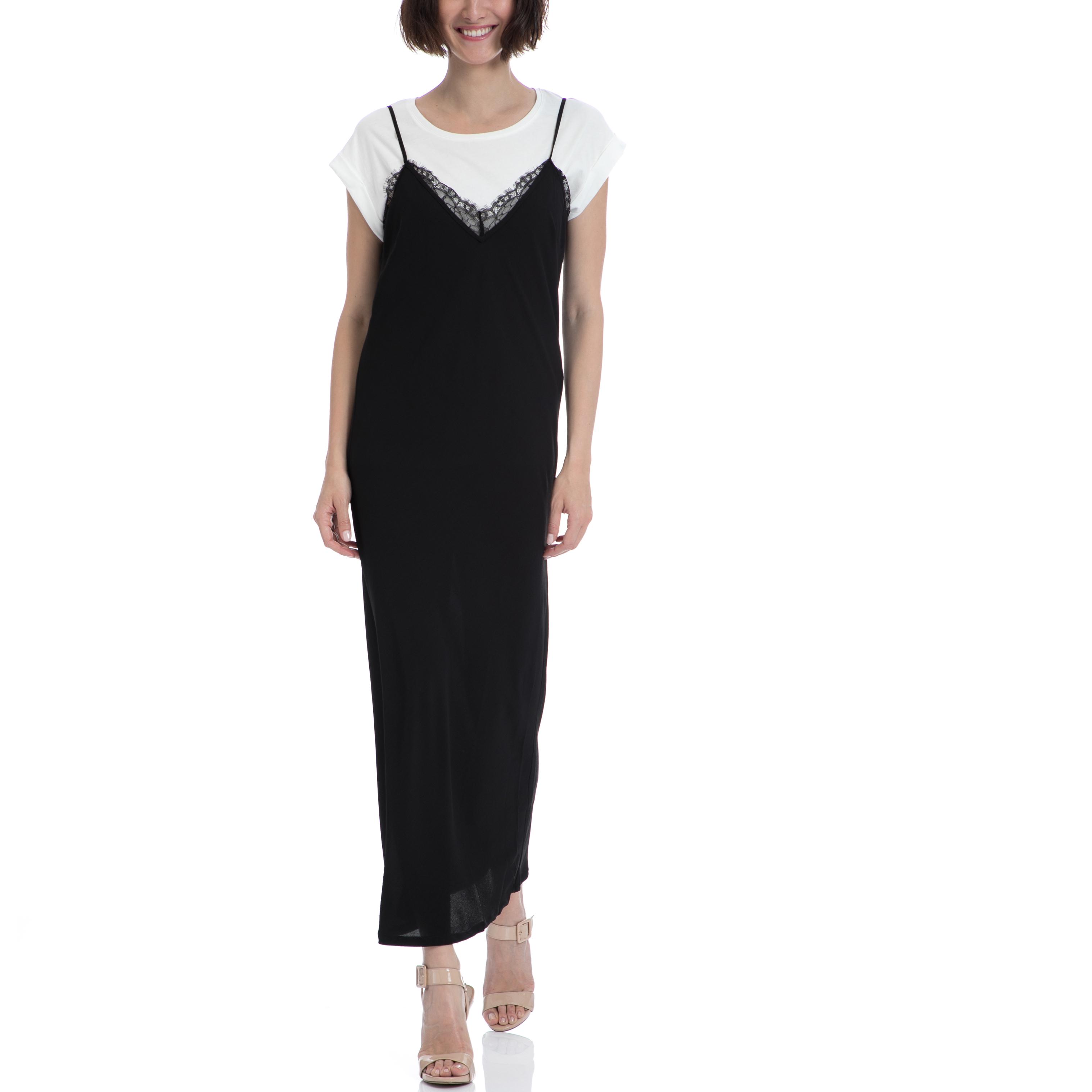 GARCIA JEANS - Γυναικείο φόρεμα Garcia Jeans μαύρο γυναικεία ρούχα φορέματα μάξι