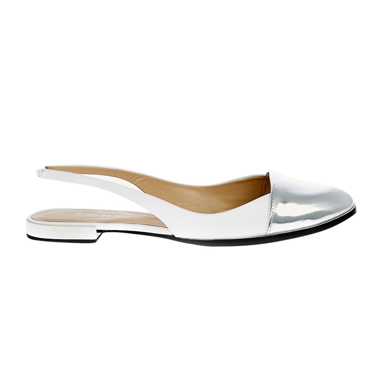 CALVIN KLEIN JEANS - Γυναικεία μοκασίνια Calvin Klein Jeans λευκά γυναικεία παπούτσια μοκασίνια μπαλαρίνες μοκασίνια