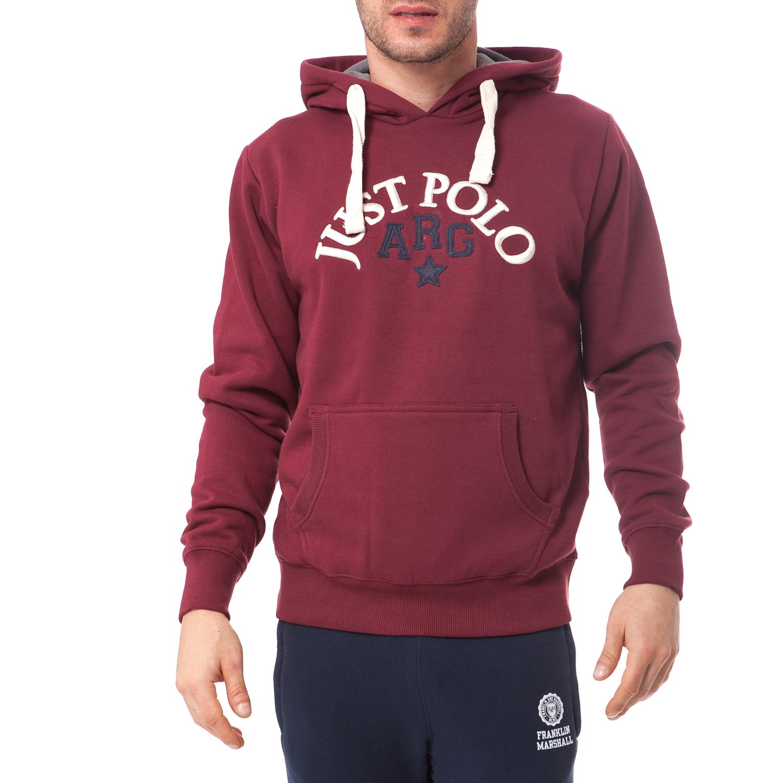 JUST POLO - Ανδρικό φούτερ Just Polo μπορντώ 3b63b93b96f