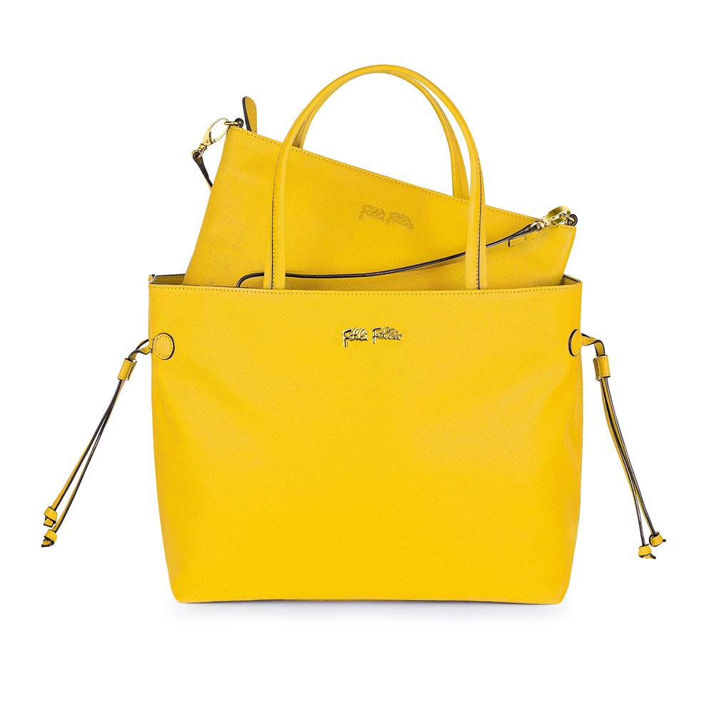FOLLI FOLLIE – Γυναικεία τσάντα FOLLI FOLLIE κίτρινη 1580663.0-0000