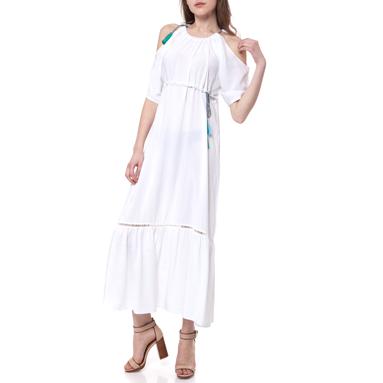 MYMOO - Γυναικείο φόρεμα MYMOO εκρού γυναικεία ρούχα φορέματα μάξι