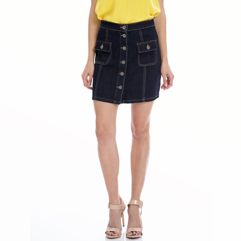 MOTIVI - Γυναικεία φούστα MOTIVI μπλε γυναικεία ρούχα φούστες μέχρι το γόνατο