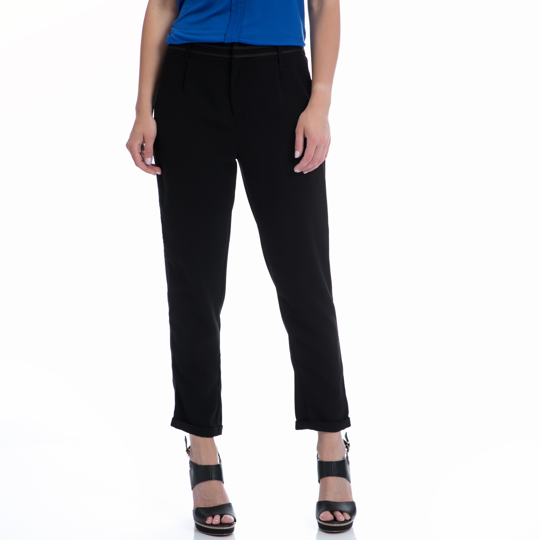 MOTIVI - Γυναικείο παντελόνι MOTIVI μαύρο γυναικεία ρούχα παντελόνια casual