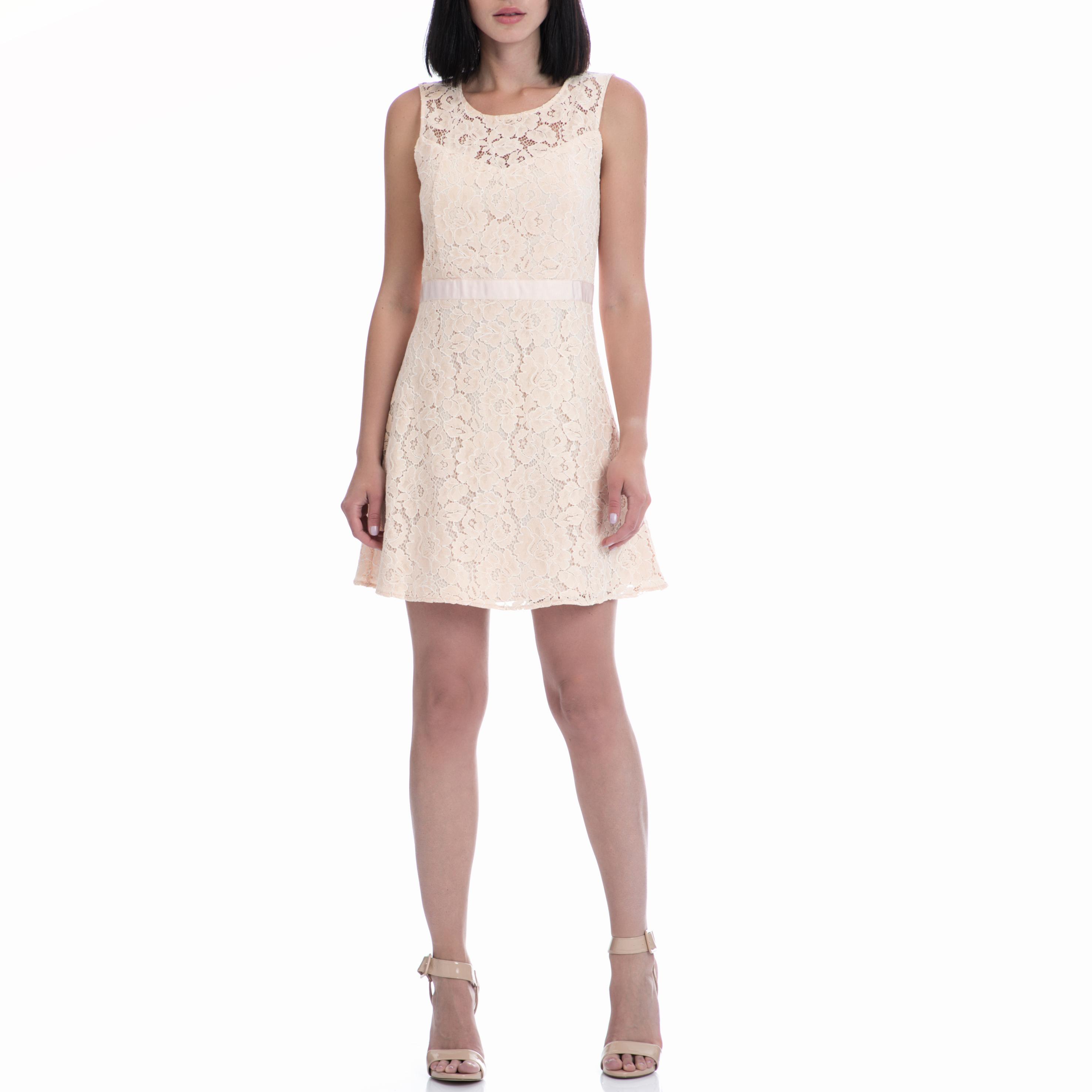 MOTIVI - Φόρεμα MOTIVI μπεζ γυναικεία ρούχα φορέματα μίνι