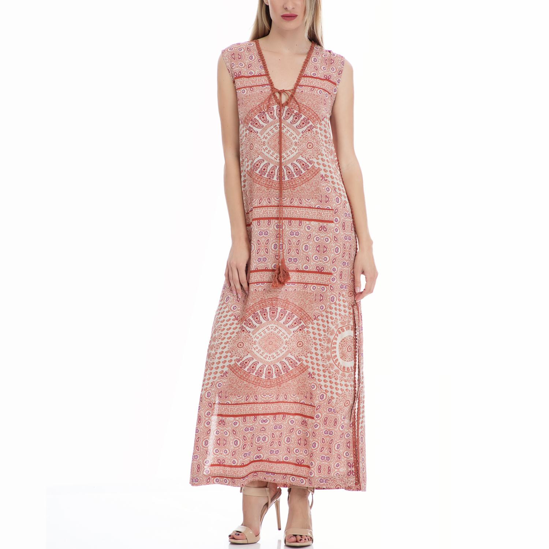 VINTAGE SUGAR - Γυναικείο φόρεμα VINTAGE SUGAR καφέ γυναικεία ρούχα φορέματα μάξι