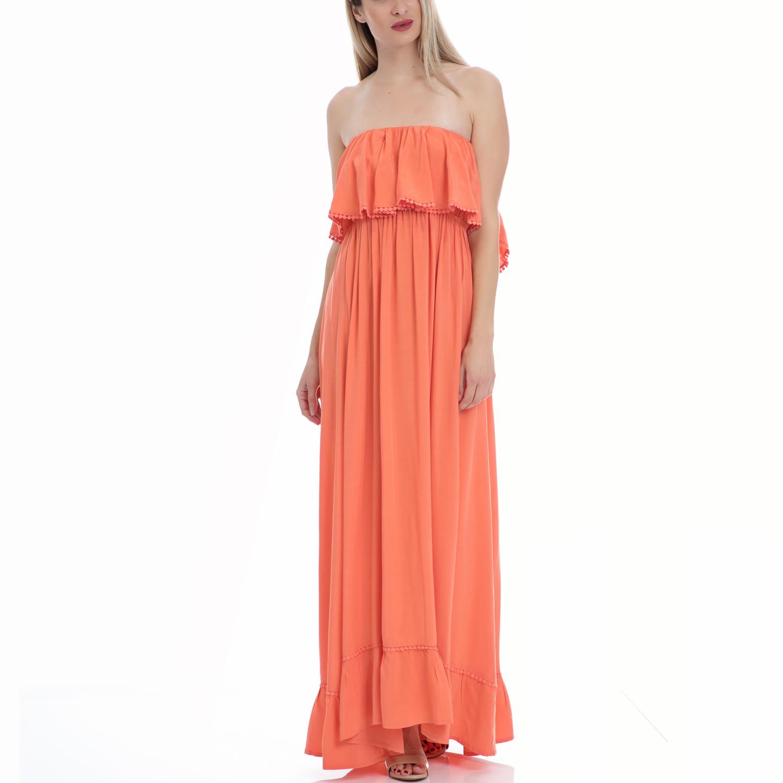 VINTAGE SUGAR - Φόρεμα Vintage Sugar κοραλί γυναικεία ρούχα φορέματα μάξι