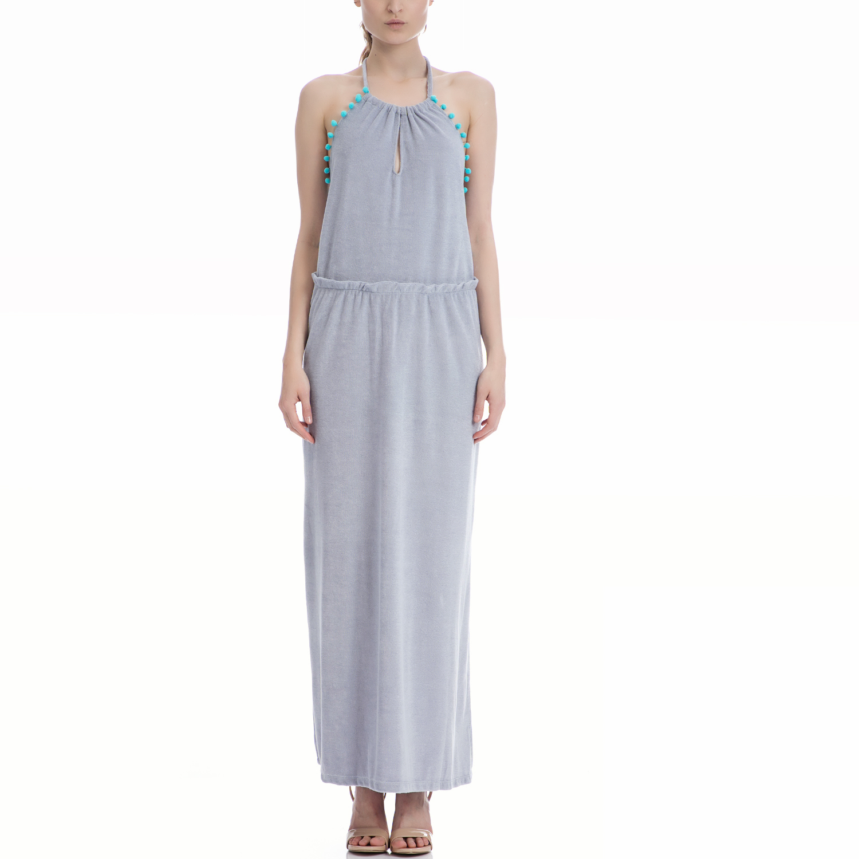 MYMOO - Γυναικείο φόρεμα MYMOO γκρι γυναικεία ρούχα φορέματα μάξι