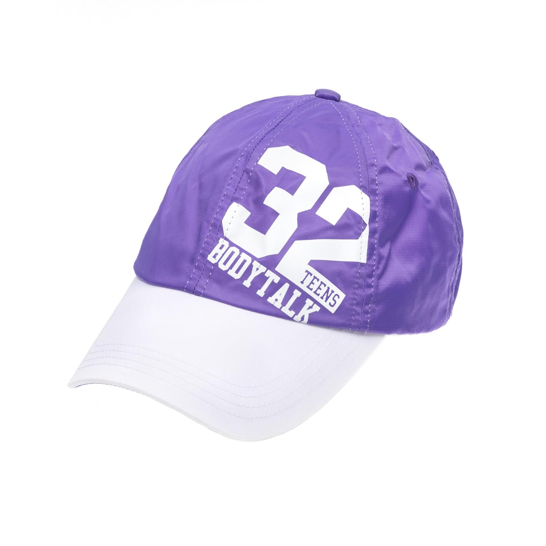 BODY TALK - Καπέλο τζόκεϋ BODYTALK μοβ-λευκό γυναικεία αξεσουάρ καπέλα αθλητικά