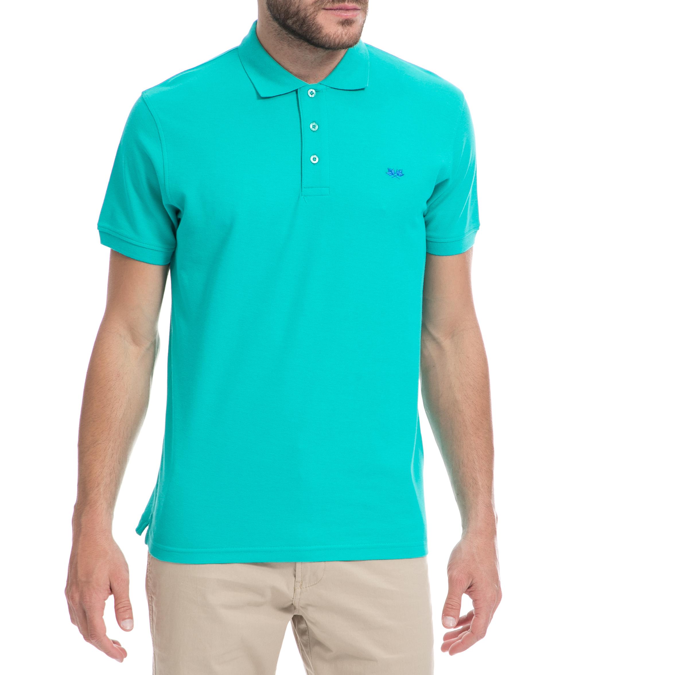 GREENWOOD – Ανδρική μπλούζα GREENWOOD πράσινη-μπλε