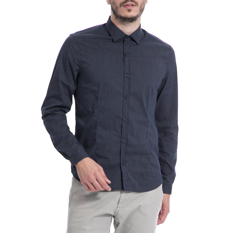 7f4a9020d029 GAUDI – Ανδρικό πουκάμισο Gaudi μπλε