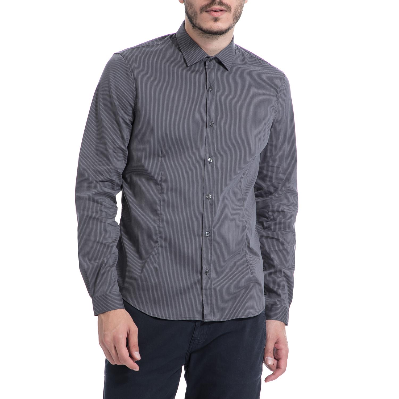 GAUDI – Ανδρικό πουκάμισο Gaudi γκρι