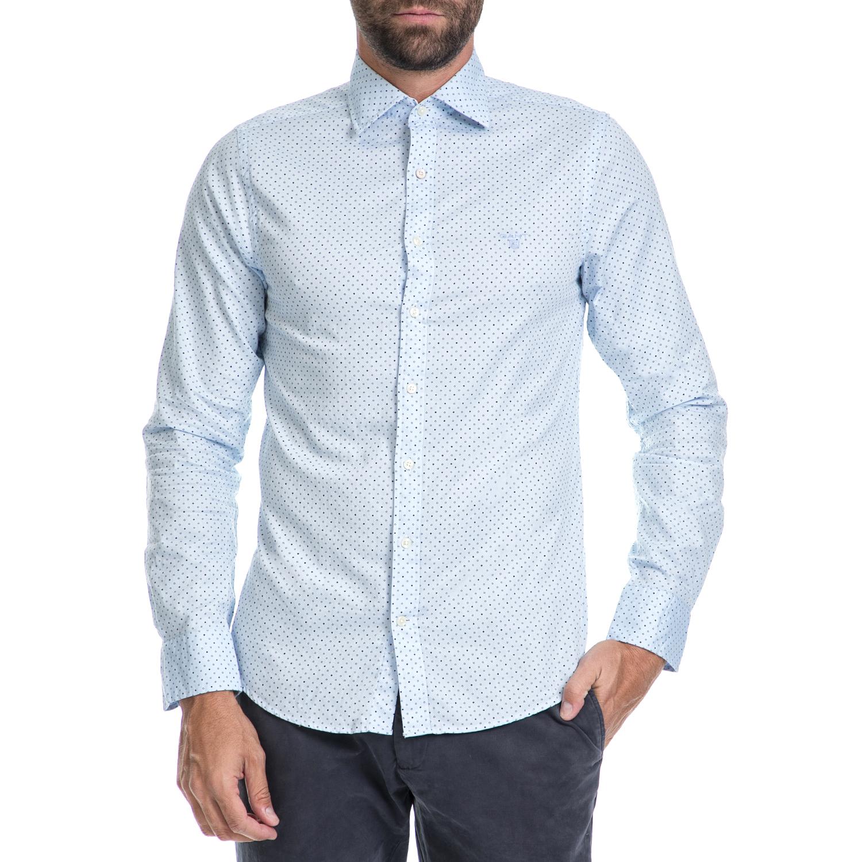 GANT - Ανδρικό πουκάμισο GANT μπλε μακρυμάνικο