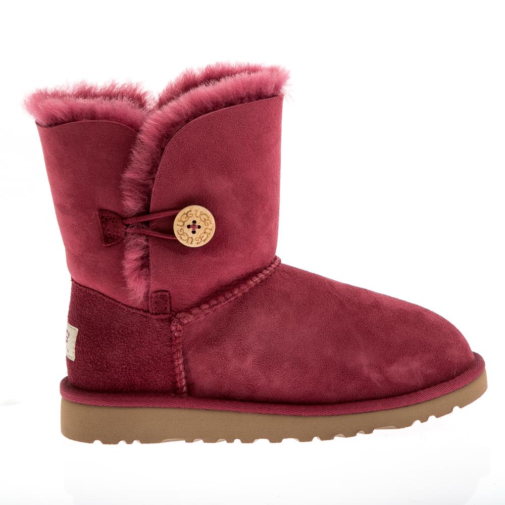 UGG AUSTRALIA - Παιδικά μποτάκια Ugg Australia μπορντώ παιδικά girls παπούτσια μπότες μποτάκια