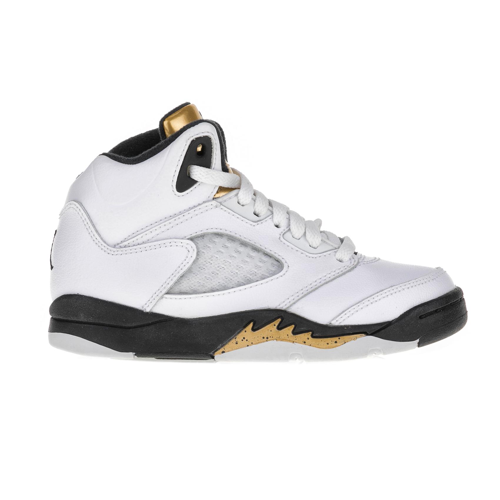 NIKE – Παιδικά αθλητικά παπούτσια Nike JORDAN 5 RETRO BP λευκά – μαύρα