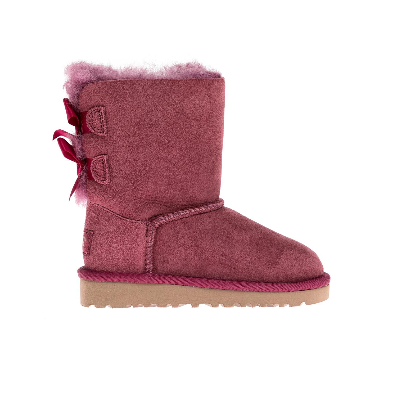 UGG AUSTRALIA - Βρεφικά μποτάκια Ugg Australia ροζ-μπορντώ παιδικά baby παπούτσια μπότες μποτάκια