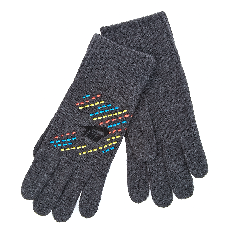 NIKE - Γάντια Nike γκρι γυναικεία αξεσουάρ φουλάρια κασκόλ γάντια