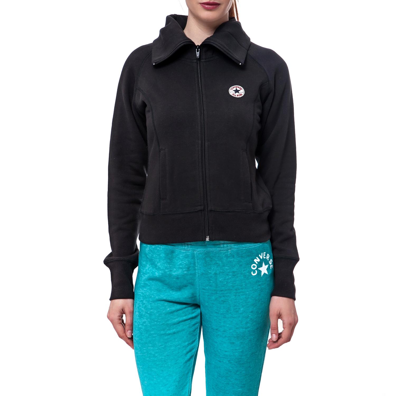 CONVERSE - Γυναικεία ζακέτα Converse μαύρη γυναικεία ρούχα φούτερ ζακέτες