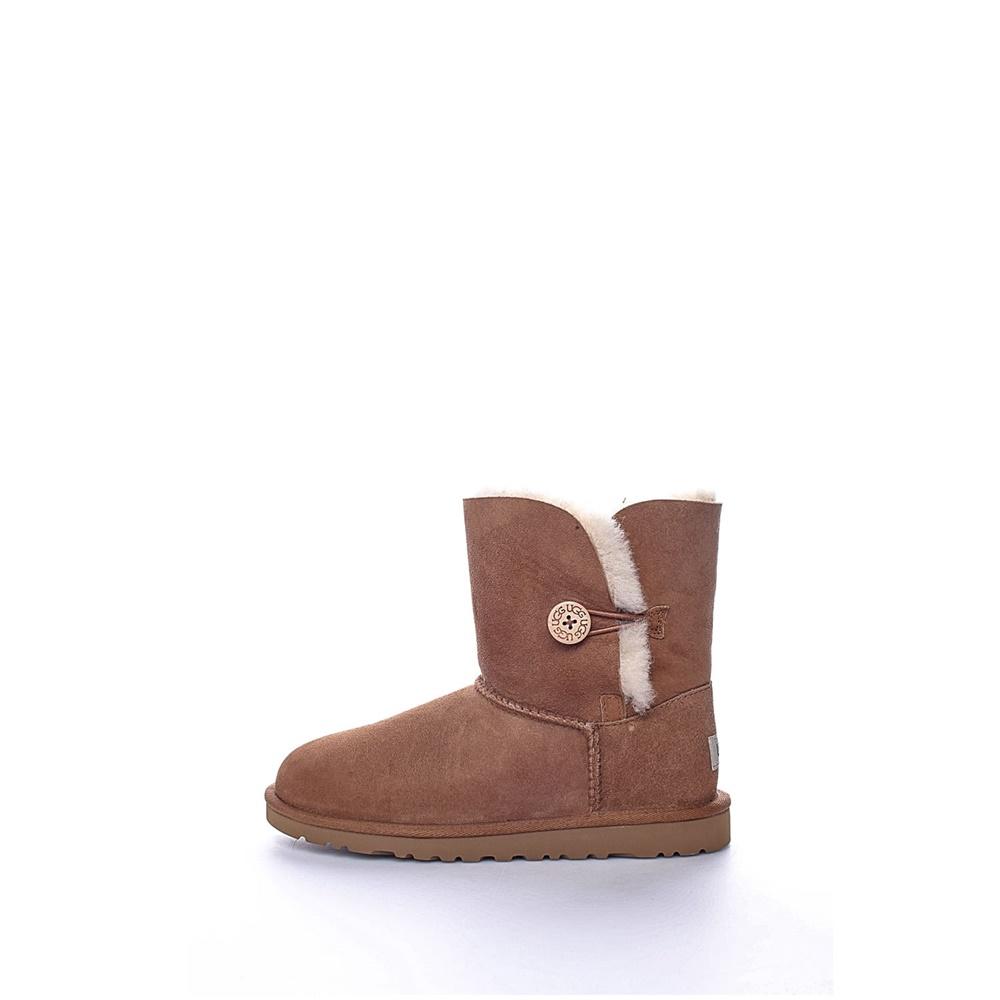 UGG AUSTRALIA - Παιδικά μποτάκια Bailey Button καφέ παιδικά boys παπούτσια μπότες μποτάκια