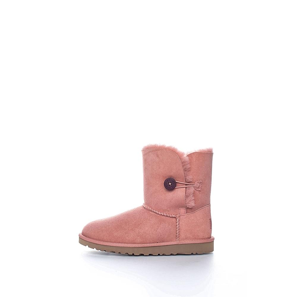 UGG AUSTRALIA - Παιδικά μποτάκια Bailey Button ροζ παιδικά girls παπούτσια μπότες μποτάκια