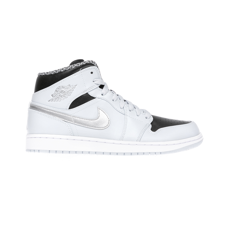 NIKE – Αντρικά παπούτσια NIKE AIR JORDAN 1 MID ασπρόμαυρα
