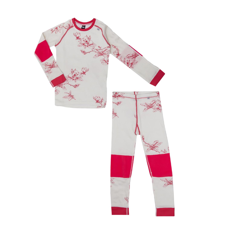HELLY HANSEN – Παιδικό εσωθερμικό σετ Helly Hansen λευκό-κόκκινο