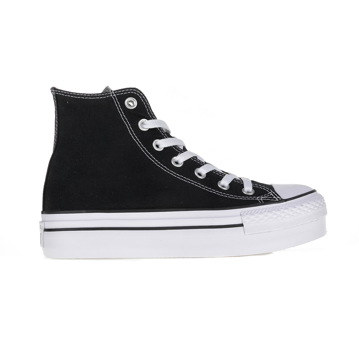 CONVERSE – Γυναικεία παπούτσια με δίπατη σόλα Chuck Taylor All Star Hi μαύρα