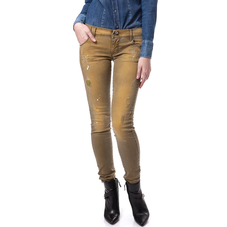 GAS - Γυναικείο παντελόνι Gas κίτρινο γυναικεία ρούχα παντελόνια jean