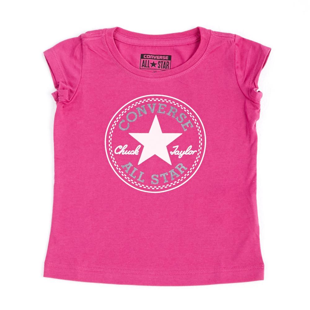CONVERSE – Βρεφικό μπλουζάκι Converse ροζ