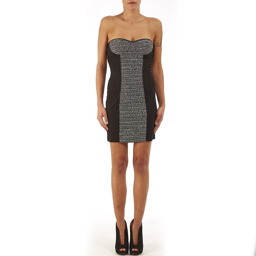 GUESS - Φόρεμα Guess μαύρο-ασημί γυναικεία ρούχα φορέματα μίνι