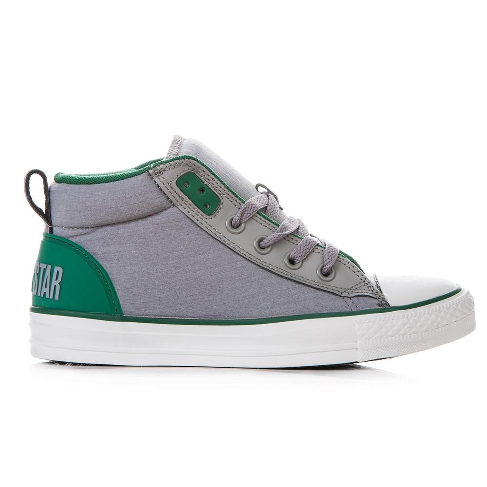 CONVERSE - Unisex ημίμποτα Chuck Taylor γκρι γυναικεία παπούτσια sneakers
