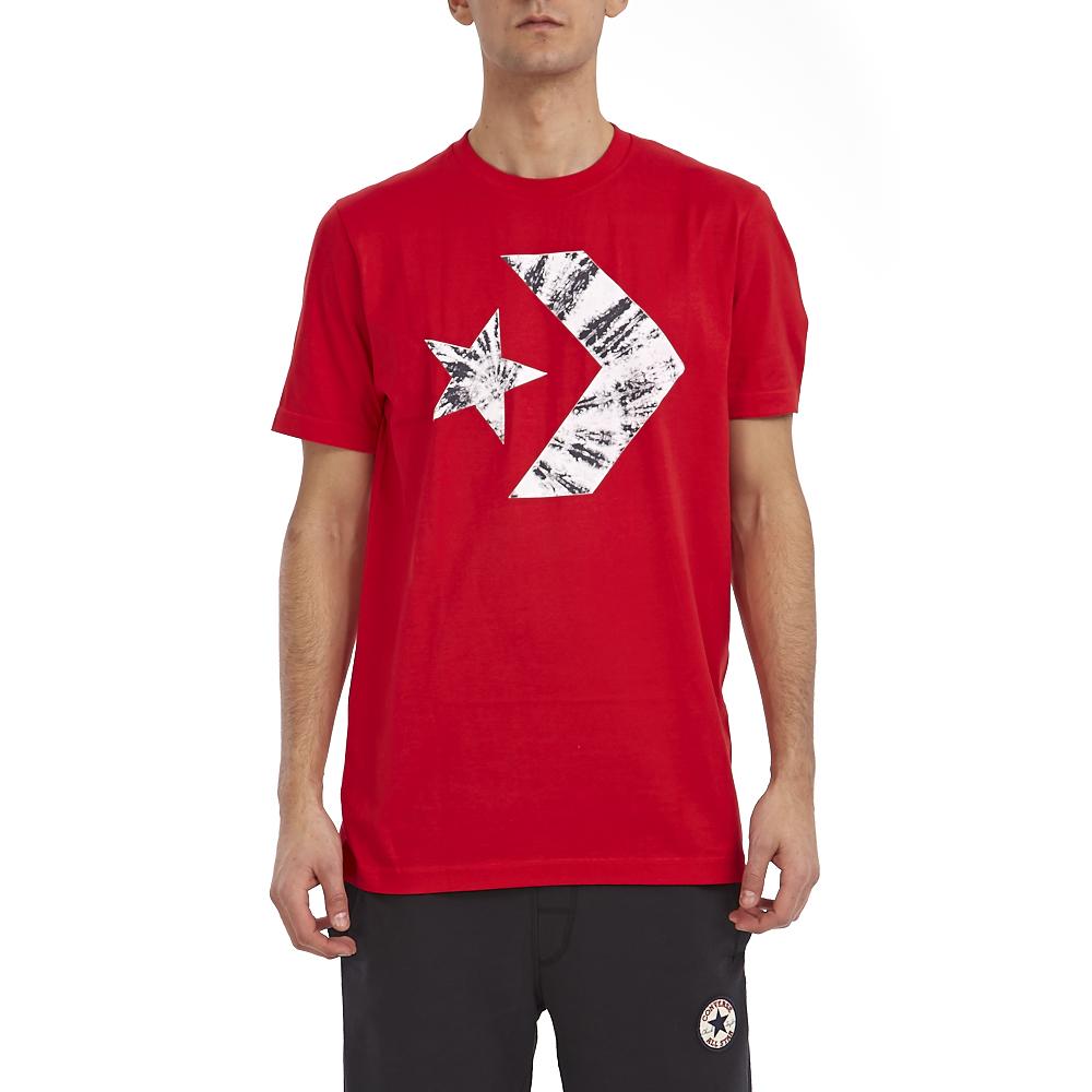 CONVERSE - Ανδρική μπλούζα Converse κόκκινη ανδρικά ρούχα αθλητικά t shirt