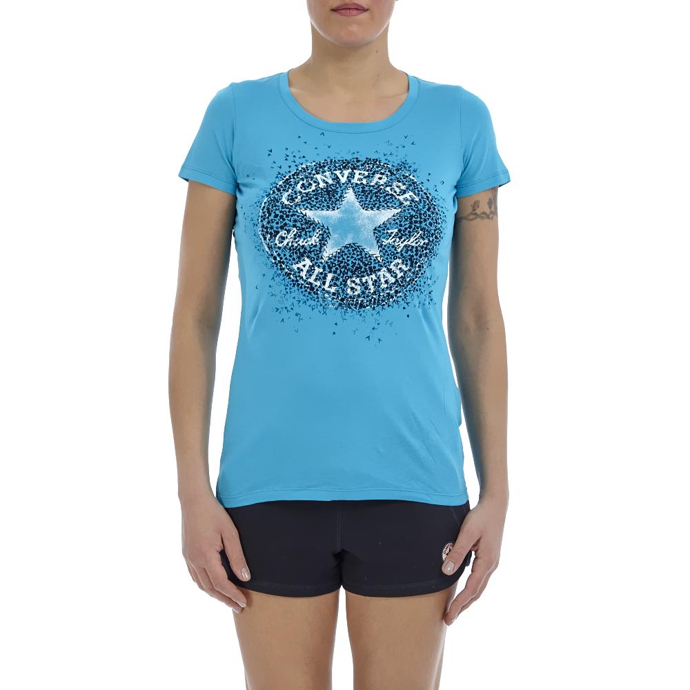 CONVERSE – Γυναικεία μπλούζα Converse τυρκουάζ