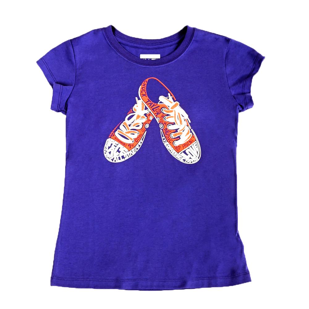 CONVERSE – Βρεφικό μπλουζάκι Converse μωβ