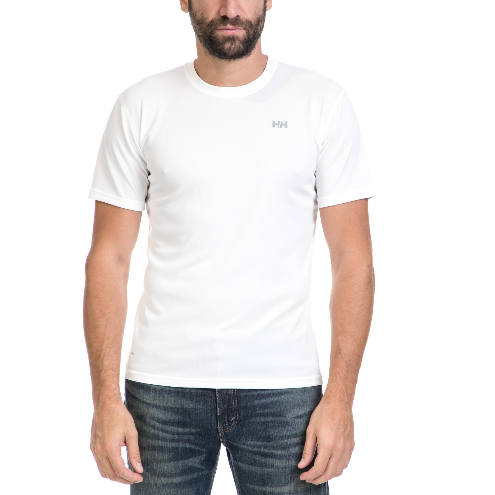 HELLY HANSEN - Ανδρική μπλούζα TRAINING λευκή ανδρικά ρούχα αθλητικά t shirt