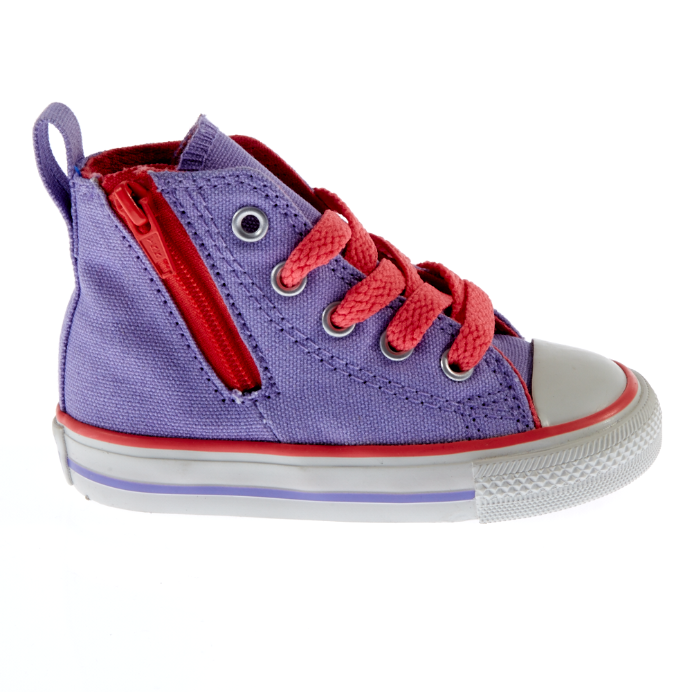 CONVERSE – Βρεφικά μποτάκια Chuck Taylor All Star λιλά