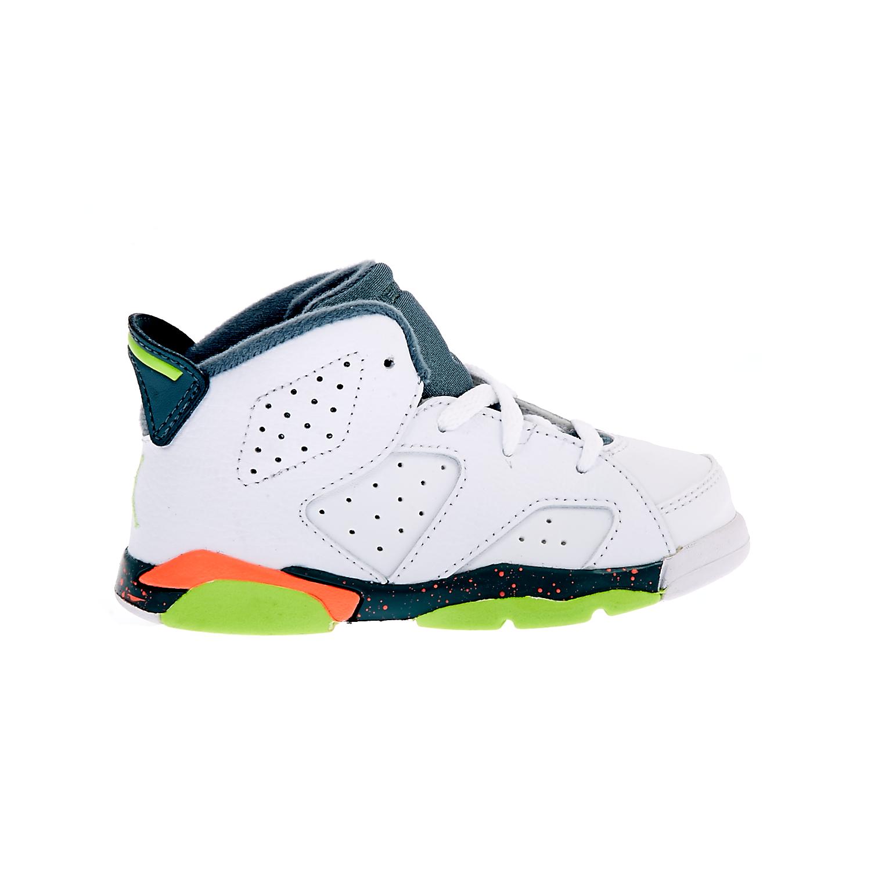 NIKE – Βρεφικά παπούτσια NIKE AIR JORDAN 6 RETRO λευκά
