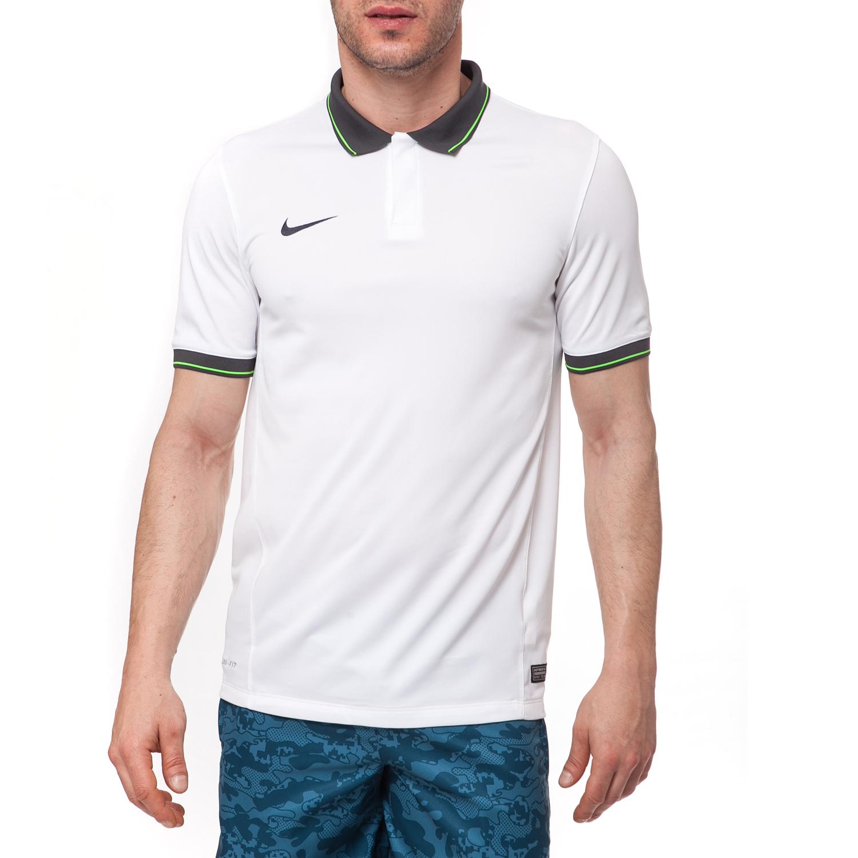 NIKE - Αντρική μπλούζα NIKE άσπρη ανδρικά ρούχα μπλούζες πόλο