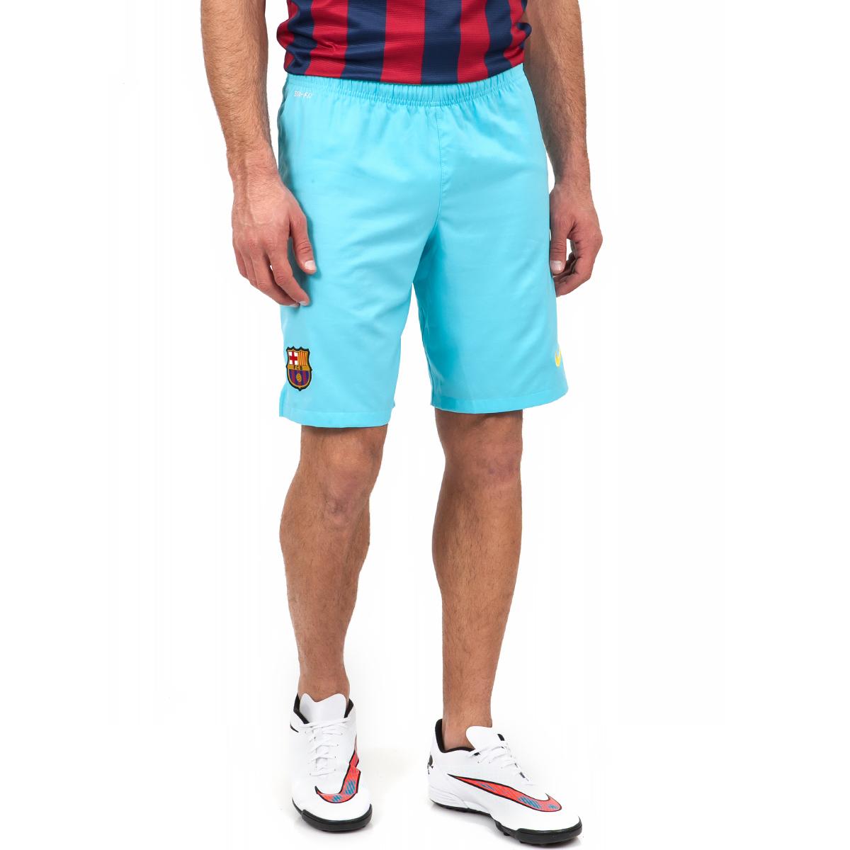 NIKE - Ανδρικό σορτς Nike Barcelona FC μπλε ανδρικά ρούχα σορτς βερμούδες αθλητικά
