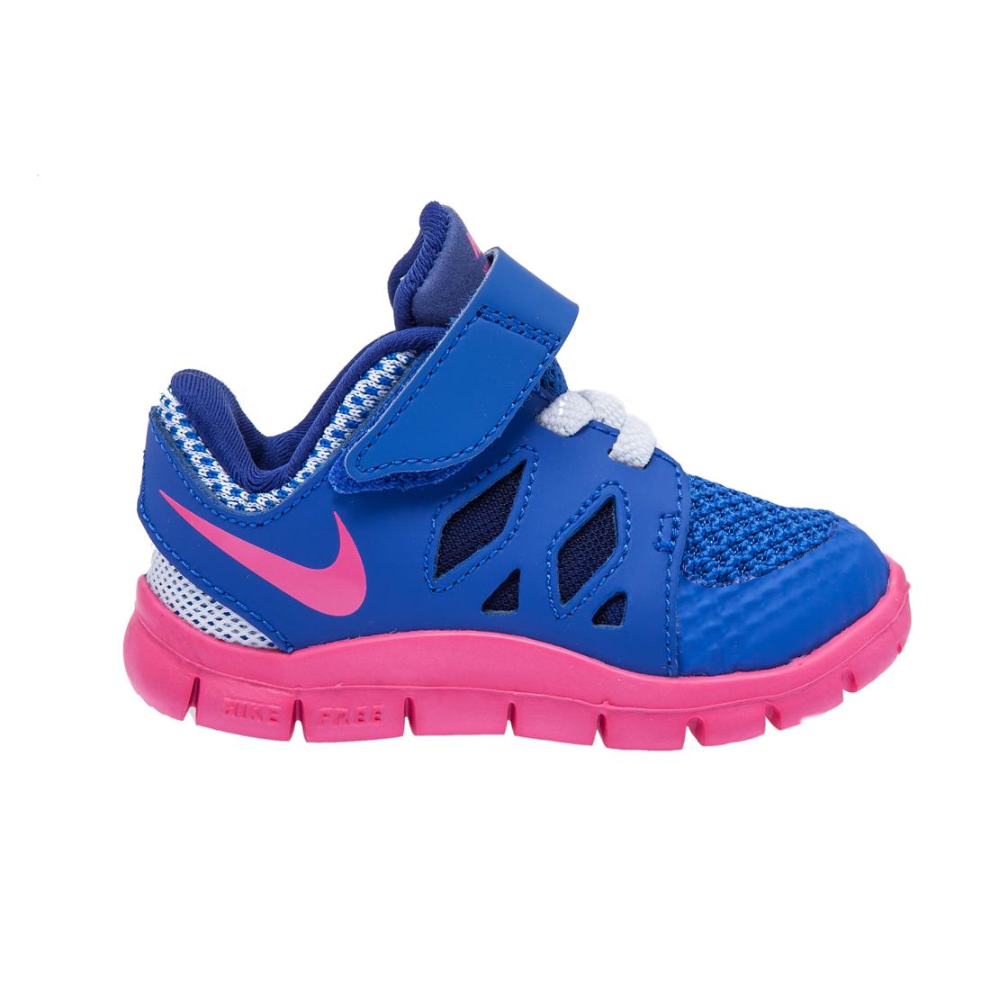 NIKE – Βρεφικά παπούτσια NIKE FREE 5 μπλε