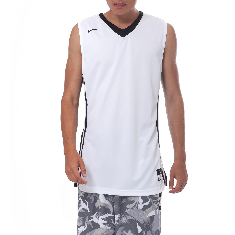 NIKE - Ανδρική μπλούζα Nike λευκή ανδρικά ρούχα μπλούζες αμάνικες
