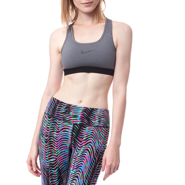 NIKE - Γυναικείο μπουστάκι Nike γκρι γυναικεία ρούχα αθλητικά μπουστάκια