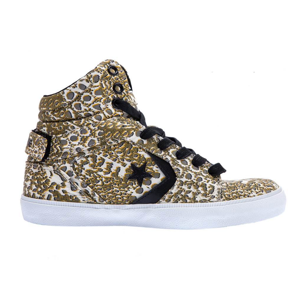 CONVERSE - Unisex παπούτσια All Star 12 Mid λευκά-κίτρινα γυναικεία παπούτσια sneakers