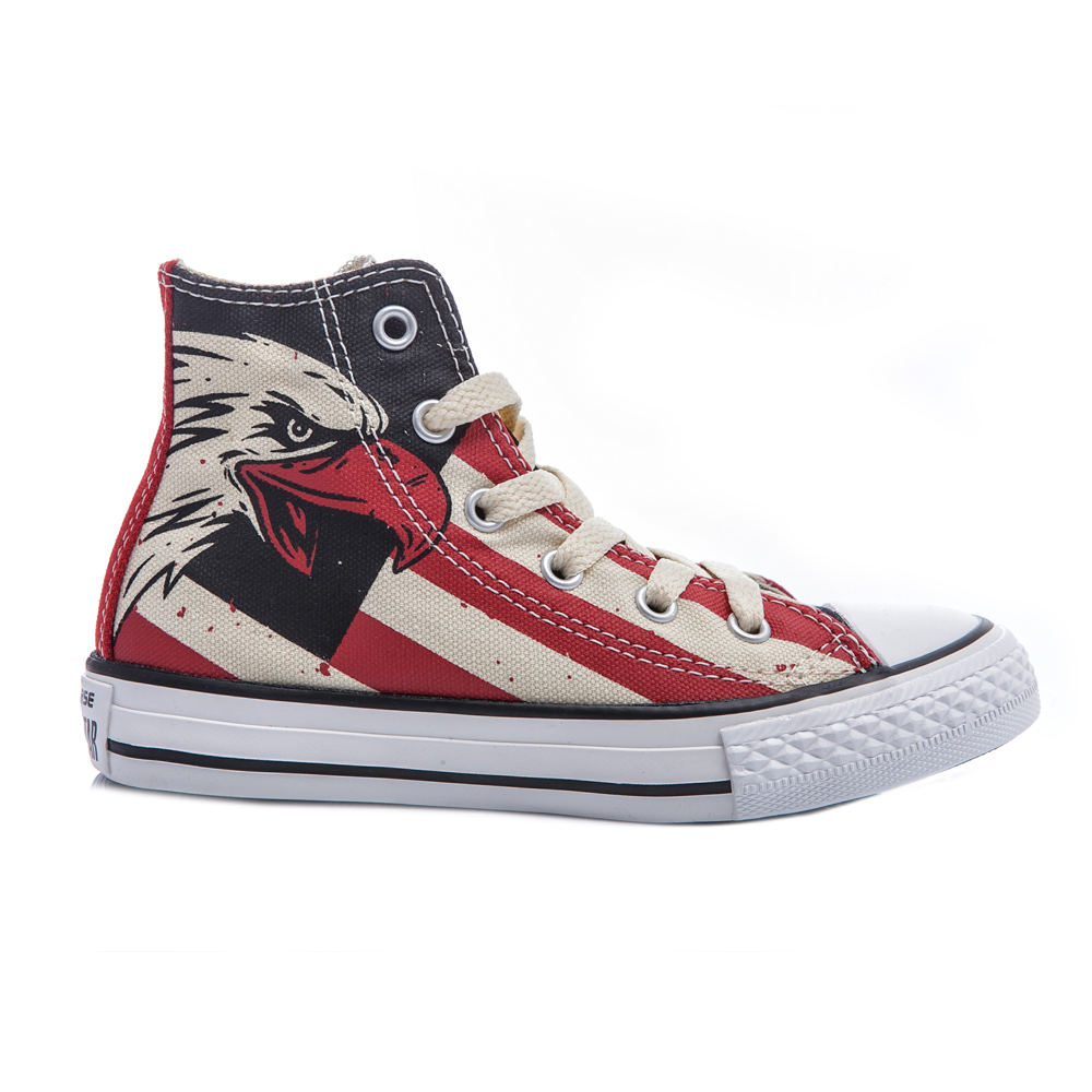 CONVERSE – Παιδικά παπούτσια Chuck Taylor κόκκινα-μπεζ