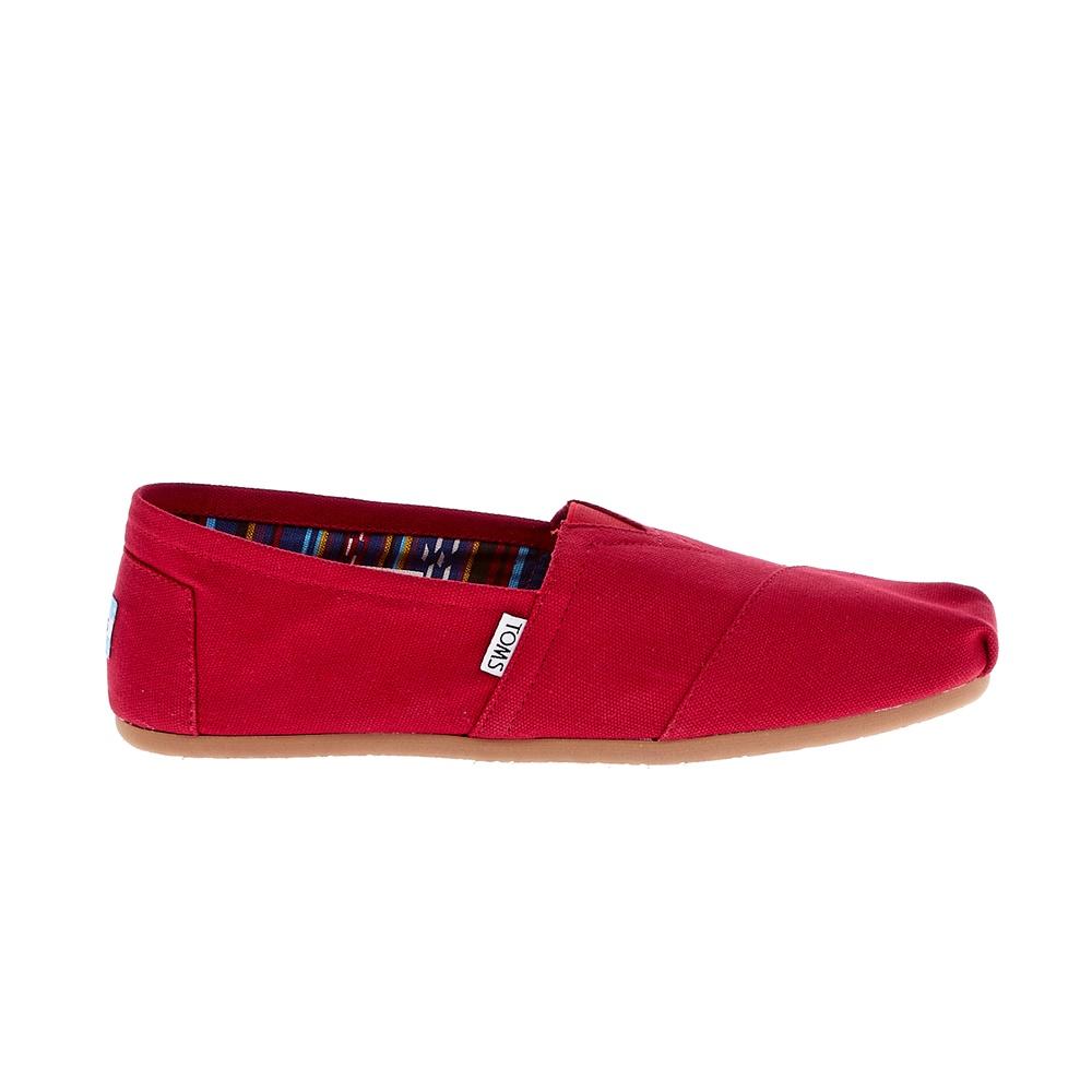 TOMS - Ανδρικές εσπαντρίγιες TOMS Canvas Classic κόκκινες ανδρικά παπούτσια εσπαντρίγιες