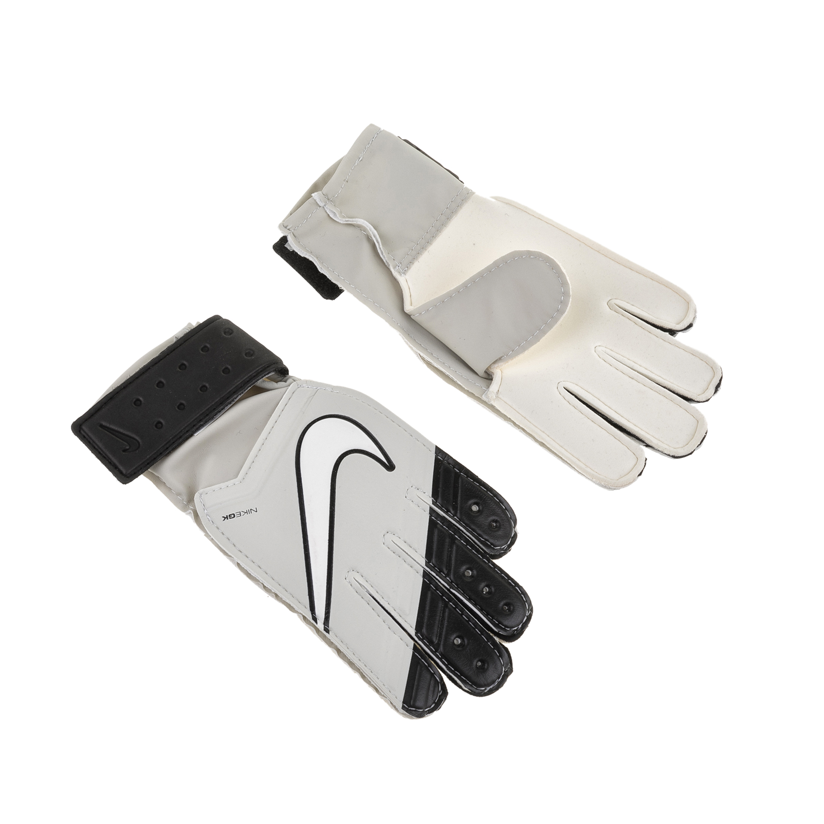 NIKE – Παιδικά γάντια τερματοφύλακα NIKE GK JR MATCH ΓΑΝΤΙΑ γκρι-μαύρα