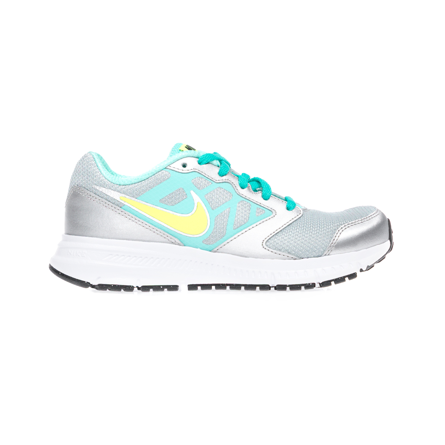 NIKE - Παδικά παπούτσια NIKE DOWNSHIFTER 6 (GS/PS) γκρι-ασημί παιδικά girls παπούτσια αθλητικά