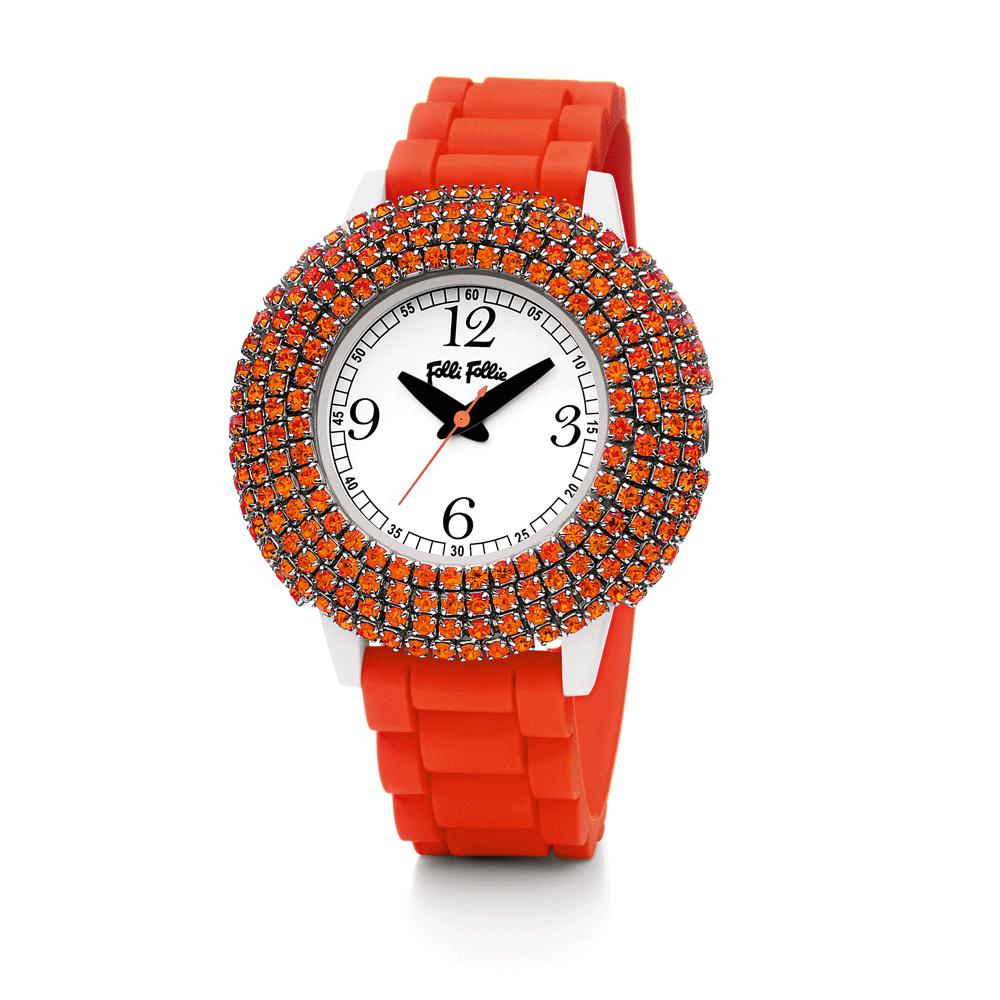 FOLLI FOLLIE – Γυναικείο ρολόι Folli Follie πορτοκαλί