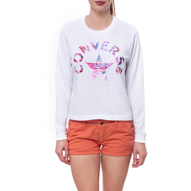 CONVERSE – Γυναικεία μπλούζα Converse λευκή