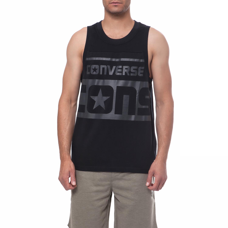 CONVERSE - Ανδρική μπλούζα Converse μαύρη ανδρικά ρούχα αθλητικά t shirt