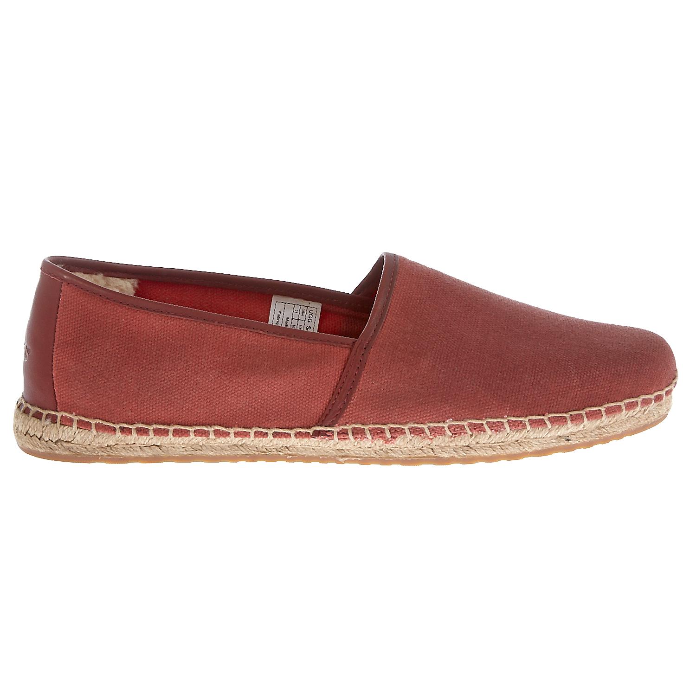 UGG AUSTRALIA - Ανδρικές εσπαντρίγιες Ugg Australia κόκκινες ανδρικά παπούτσια μοκασίνια loafers
